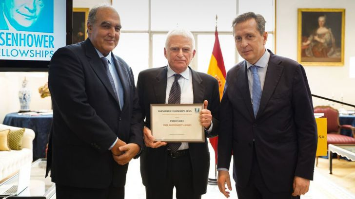 Paolo Vasile, Premio Eisenhower Fellowships por la independencia informativa de Telecinco y Cuatro